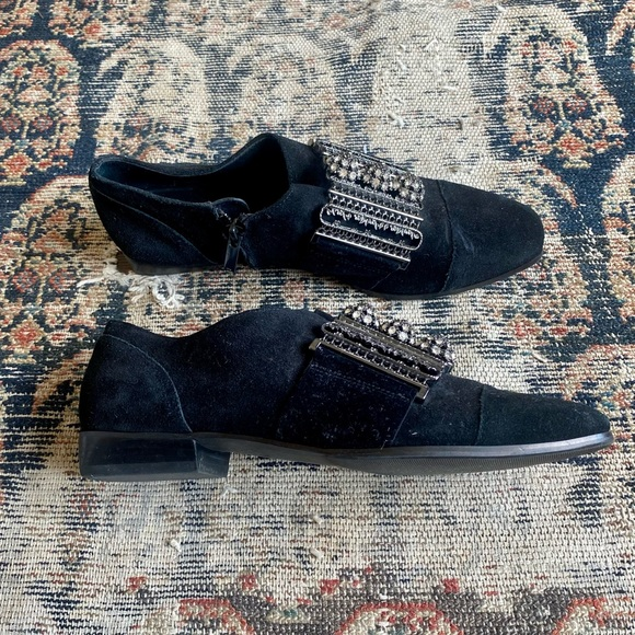 Buckled Suede Shoes
